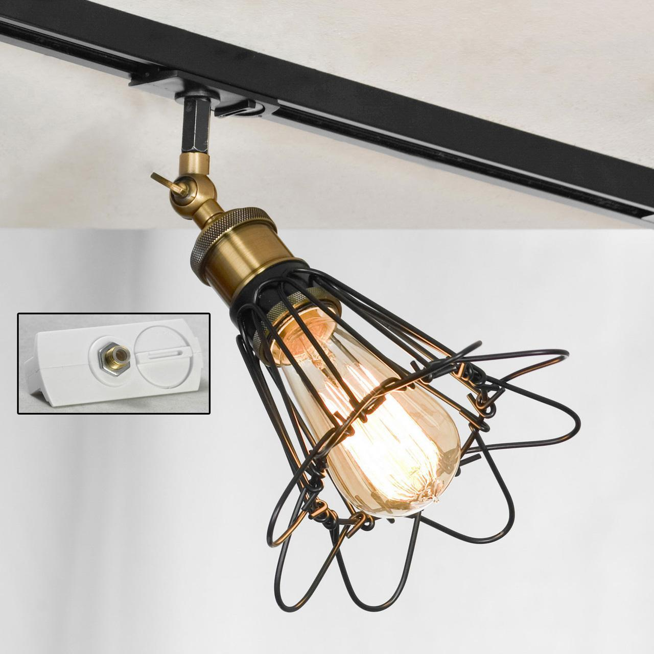 Трековый светильник однофазный Lussole LOFT Track Lights LSP-9109-TAW edison bulb loft style vintage pendant industrial light lamp with 3 lights for dining room
