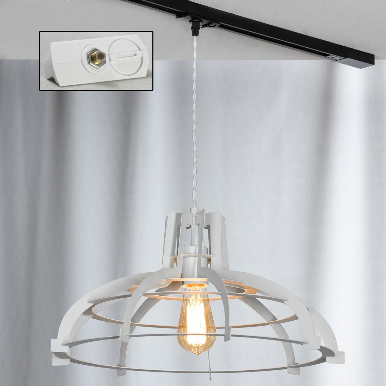 Трековый светильник однофазный Lussole LOFT Track Lights LSP-9944-TAW edison bulb loft style vintage pendant industrial light lamp with 3 lights for dining room