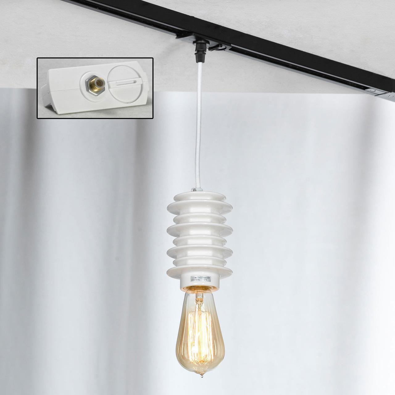 Трековый светильник однофазный Lussole LOFT Track Lights LSP-9921-TAW edison bulb loft style vintage pendant industrial light lamp with 3 lights for dining room