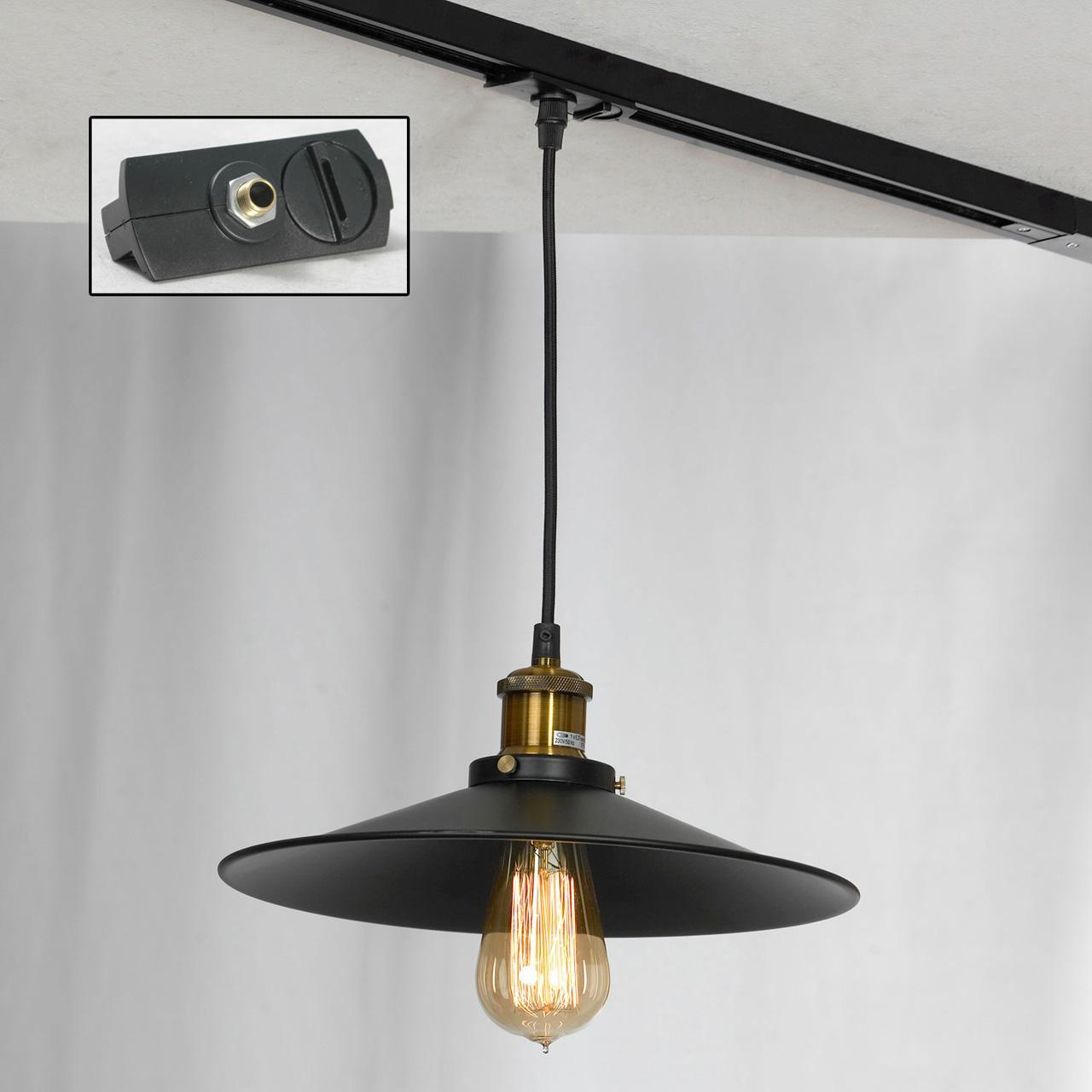 Трековый светильник однофазный Lussole LOFT Track Lights LSP-9601-TAB edison bulb loft style vintage pendant industrial light lamp with 3 lights for dining room