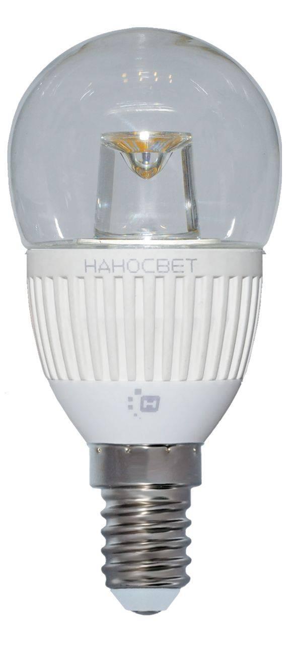 Лампа светодиодная E14 5W 4000K прозрачная LC-P45CL-5/E14/840 L125 лампа светодиодная e14 6 5w 4000k свеча прозрачная lc cdcl 6 5 e14 840 l213