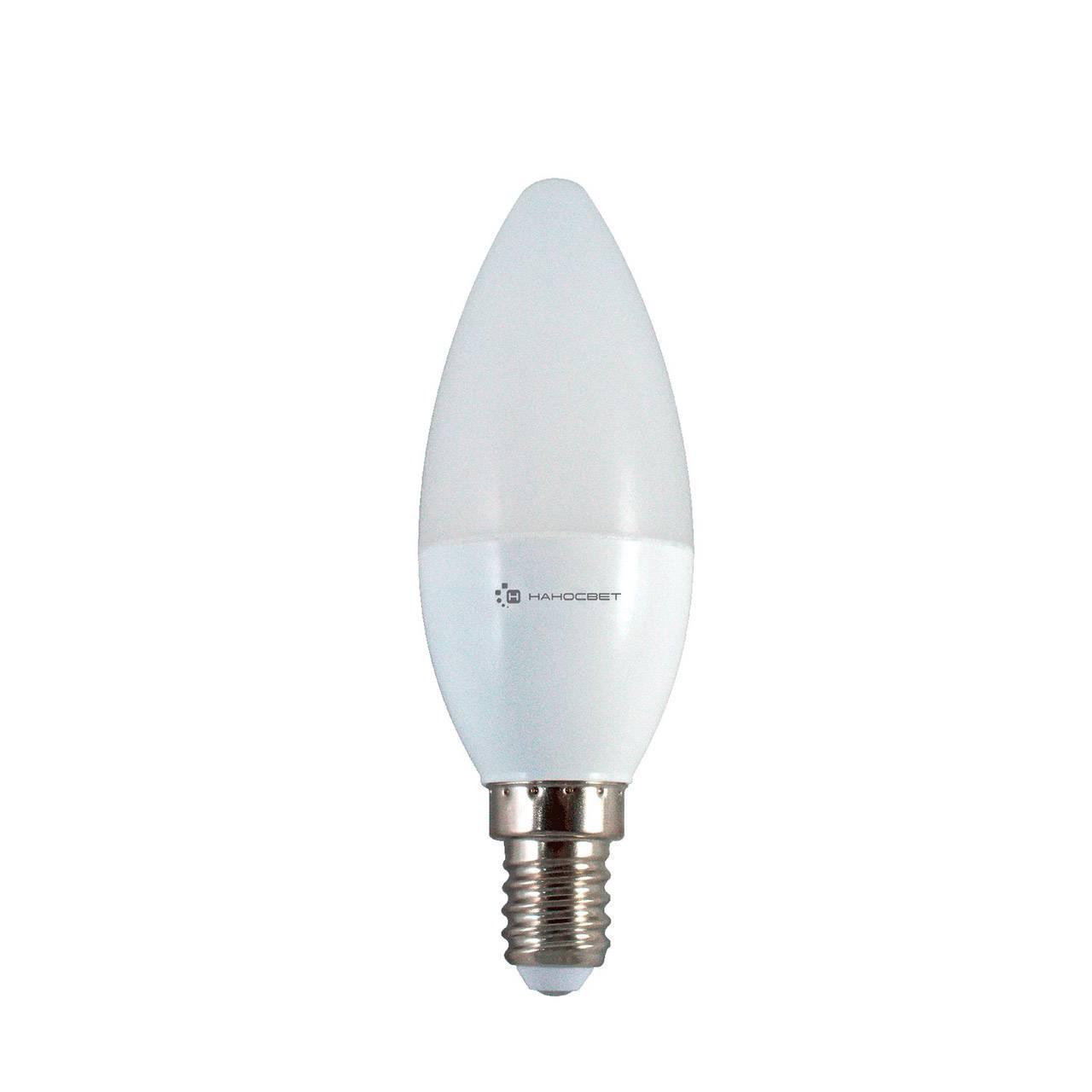 Лампа светодиодная E14 6W 2700K матовая LE-CD-6/E14/827 L250 лампа cветодиодная e14 6w 2700k свеча матовая 33116