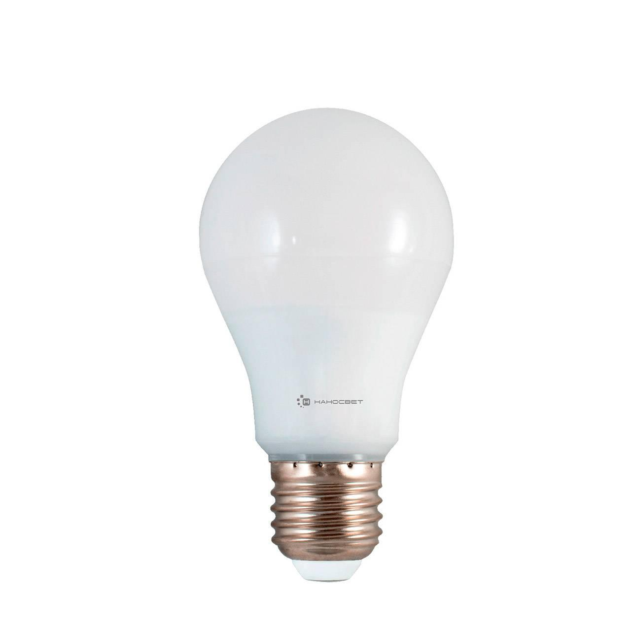 Лампа светодиодная E27 10W 2700K матовая LE-GLS-10/E27/827 L162 лампа светодиодная e27 10w 2700k груша матовая 23210