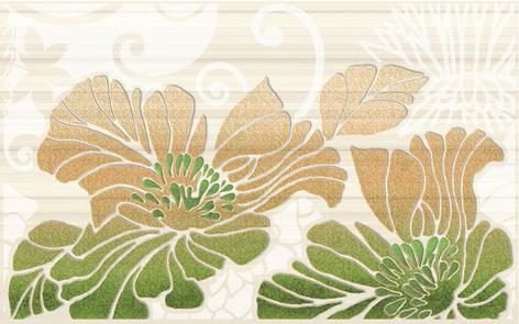 Кензо фисташ.зеленый /09-03-85-075-1/ /96-54-83-7501/ декор 40х25 10шт. декор нефрит риф бретань 3 60x20