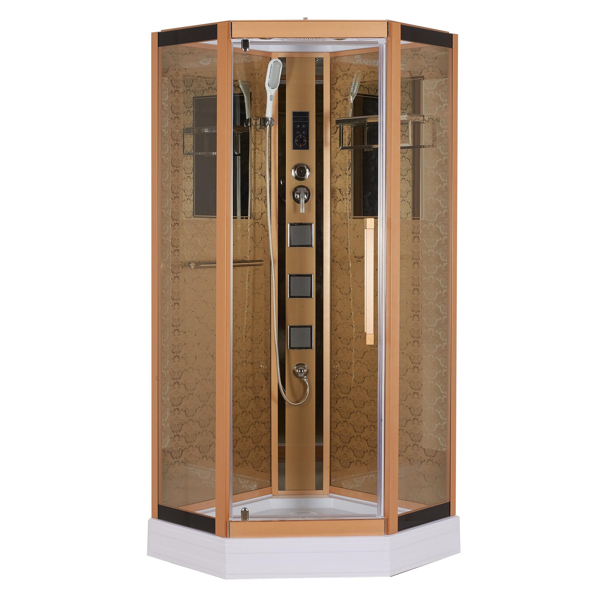 Душевая кабина Niagara Lux 7799G золото открытая душевая кабина triton стандарт б1 90x90 белая