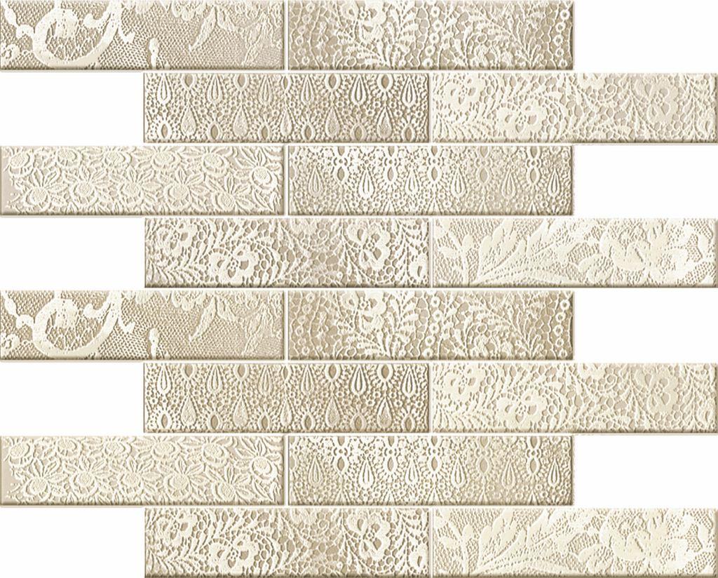 Мозаика Novogres Mosaico Blonda Crema-Gris 35х34,6 мозаичный декор novogres nantes mosaico diamante 30x33