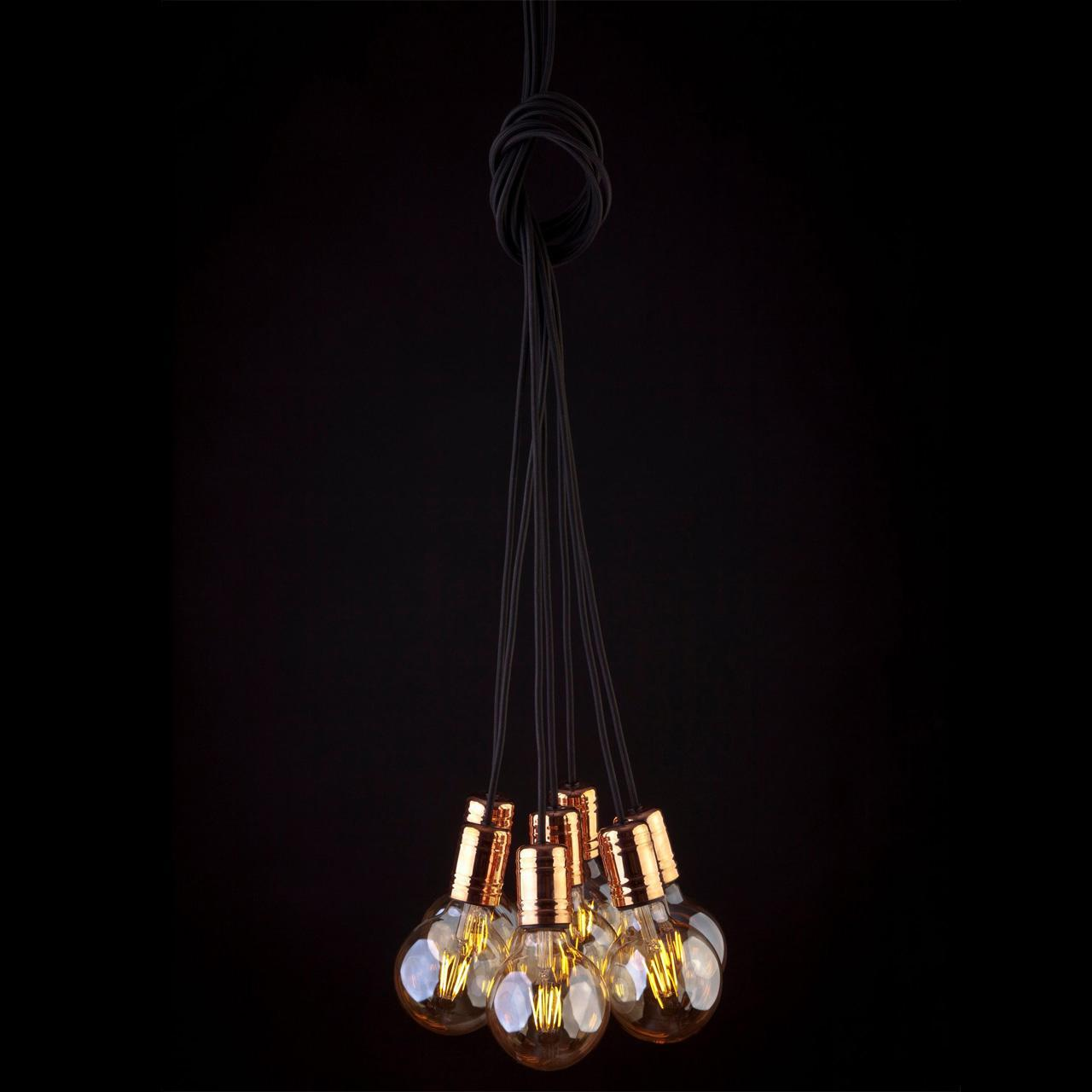 Люстра Nowodvorski Cable Black/Copper 9746 подвесная nowodvorski cable black copper vii
