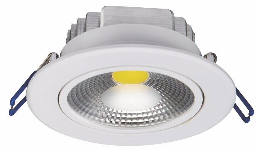 Встраиваемый светодиодный светильник Nowodvorski Downlight Cob 6972 6pcs lot привело 3w чистый белый светодиодный cob чип downlight dimmer встраиваемый светодиодный потолочный светильник