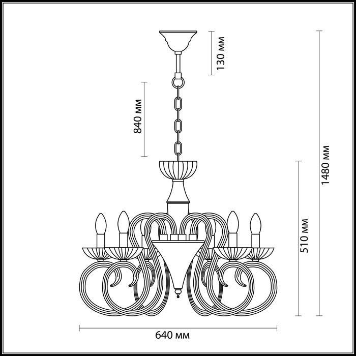 Подвесная люстра Odeon Light Zefiro 3932/6 бра odeon light zefiro 3932 1w