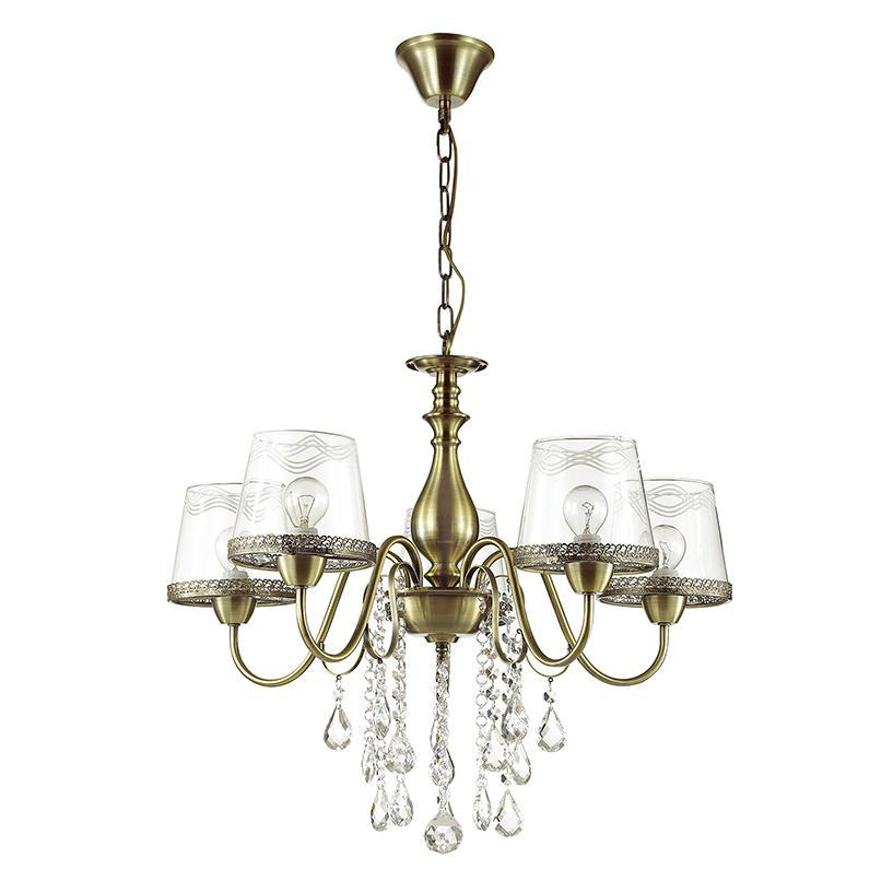 Люстра Odeon Light Sebastina 3467/5 подвесная odeon light 3467 5 odl17 000 бронза стекло метал декор хрусталь люстра e14 5 60w 220v sebastina