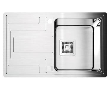 Кухонная мойка Omoikiri Mizu 78-1-R нержавеющая сталь мойка кухонная omoikiri mizu 78 l 780 480 нержавеющая сталь 4973010