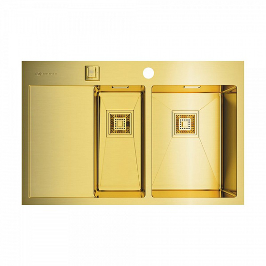 Кухонная мойка Omoikiri Akisame 78-2-LG-R 4973088 кухонная мойка omoikiri akisame 78 gm r 4973100