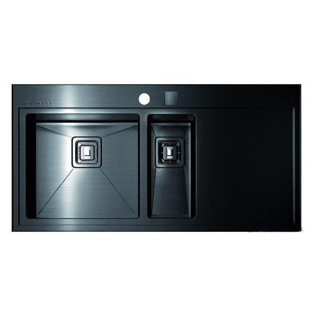 Кухонная мойка Omoikiri Akisame 100-2-GM-R черная мойка кухонная omoikiri akisame 78 gm r 4973100