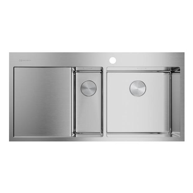 Кухонная мойка Omoikiri Akisame 100-2-IN-R 4973547 нержавеющая сталь мойка кухонная omoikiri akisame 78 gm r 4973100