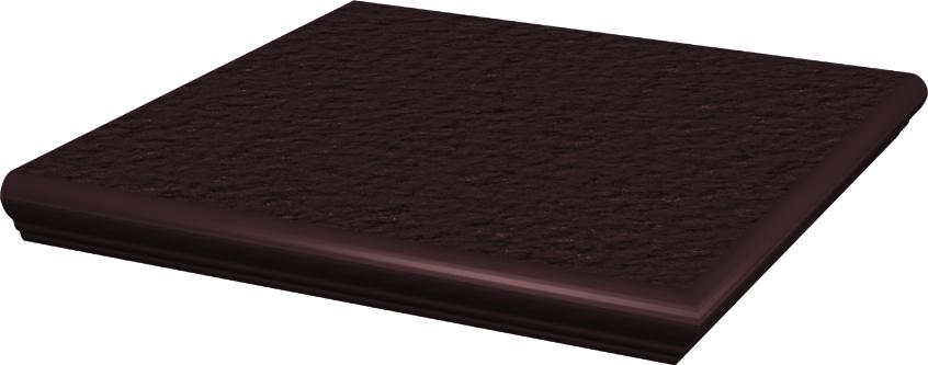 Natural Brown Duro Ступень угловая с носиком структ 33х33х1,1 ступень paradyz natural простая brown duro 30x30