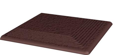 Cloud Brown Duro Ступень угловая структ 30х30х1,1 (шт) ступень paradyz natural простая brown duro 30x30