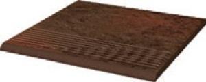 Ступень Ceramika Paradyz Semir Brown Stopnica Prosta 30х30 (0,9) ступень opoczno simple red stopnica strukturalny 3 d 30х30