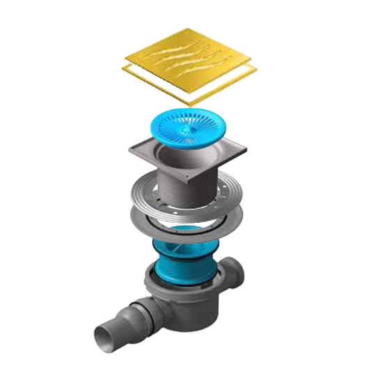 Трап для душа Pestan Confluo Standard Tide 2 Gold душевой трап pestan square 3 150 мм 13000007