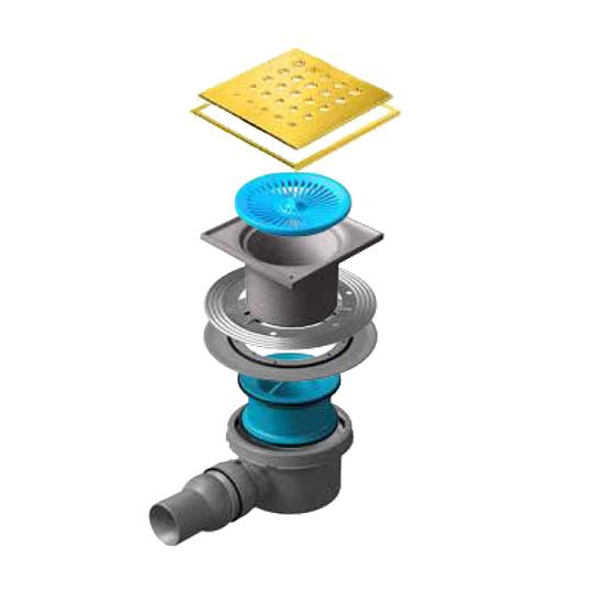 Трап для душа Pestan Confluo Standard Drops 1 Gold душевой трап pestan square 3 150 мм 13000007