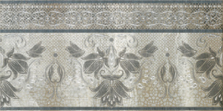 Бордюр Porcelanite Dos Serie 5018 +14502 Cenefa Perla-Gris-Acero вставка porcelanite dos 5021 roseton crema perla 50x50
