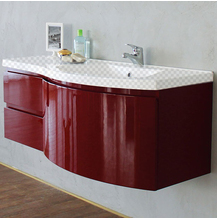 Тумба под раковину Belbagno Prospero 1200-3C-SO-RB-right, Rosso Brilliante