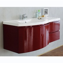 Тумба под раковину Belbagno Prospero 1200-3C-SO-RB-left Rosso Brilliante