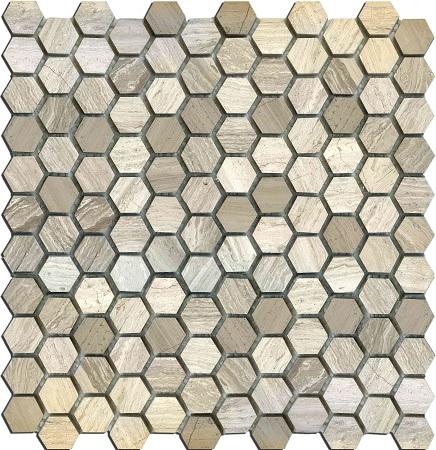 Мозаика MN160HMA Primacolore 25x25 hexagon/300х300 (11pcs) - 0.99 cloth hanger 11pcs