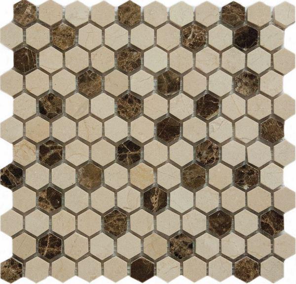 Мозаика Q-Stones QS-Hex027-25P/10 30,5х30,5 maurini брюки maurini m101 13gb 25p темно фиолетовый