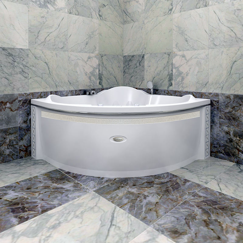 Акриловая ванна Радомир Сорренто без гидромассажа акриловая ванна радомир амелия gold правая