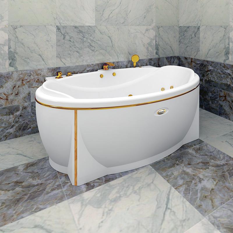 Акриловая ванна Радомир Лагуна без гидромассажа акриловая ванна радомир амелия gold правая