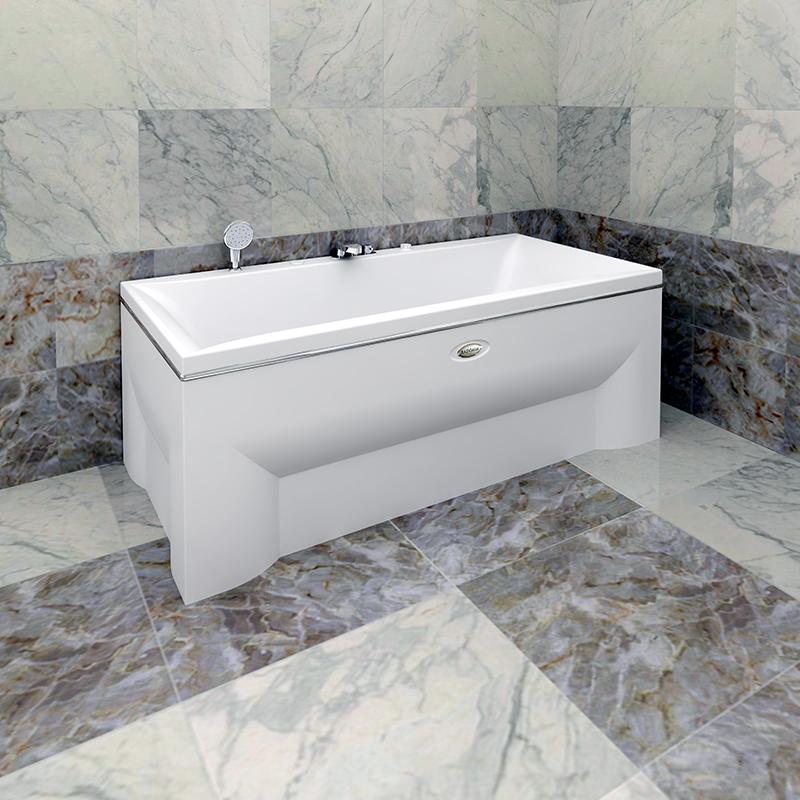 Акриловая ванна Радомир Палермо без гидромассажа акриловая ванна радомир амелия gold правая
