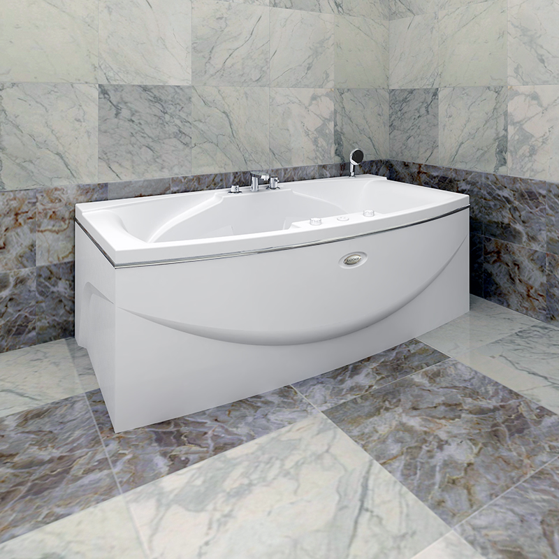 Акриловая ванна Радомир Сиэтл без гидромассажа акриловая ванна радомир амелия gold правая
