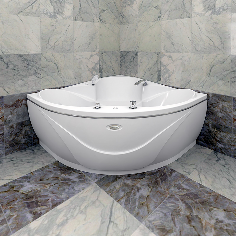 Акриловая ванна Радомир Филадельфия без гидромассажа акриловая ванна радомир амелия gold правая