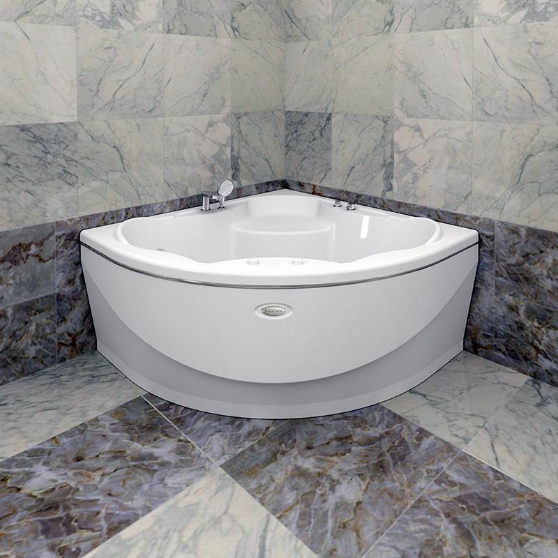 Акриловая ванна Радомир Верона без гидромассажа акриловая ванна радомир амелия gold правая