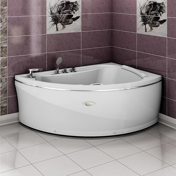 Акриловая ванна Радомир Альбена правая без гидромассажа акриловая ванна радомир амелия gold правая