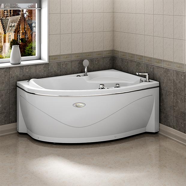 Акриловая ванна Радомир Амелия правая без гидромассажа акриловая ванна радомир амелия gold правая