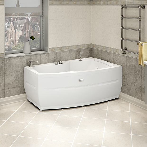 Акриловая ванна Радомир Аризона правая без гидромассажа акриловая ванна радомир амелия gold правая