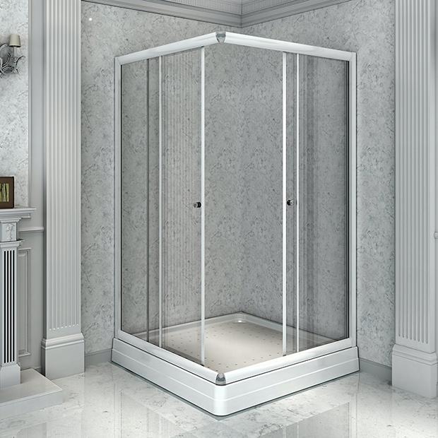 Душевой уголок Радомир 90 квадратный, прозрачный цена