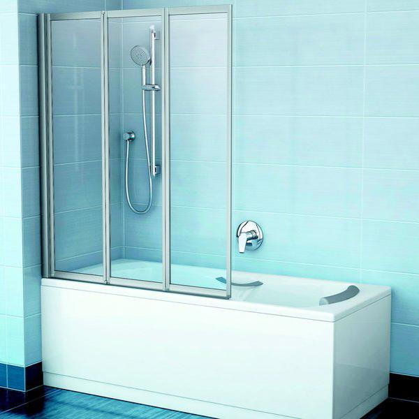 Шторка для ванны Ravak VS3 130 белый профиль, полистирол шторка на ванну ravak vs3 115 115х140 см рейн 795s010041