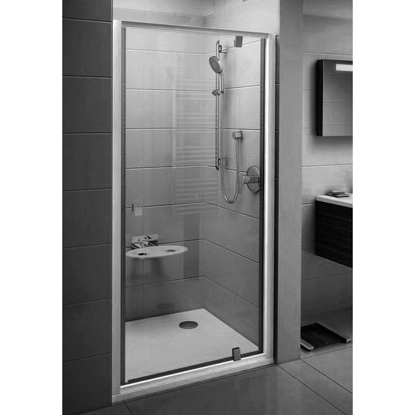 Душевая дверь Ravak Pivot PDOP1-90 блестящая+стекло транспарент