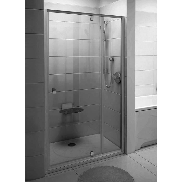 Душевая дверь Ravak Pivot PDOP2-120 блестящая+стекло транспарент