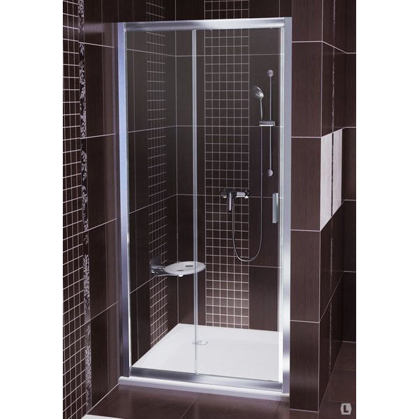 лучшая цена Душевая дверь Ravak BLDP2-110 блестящий+графит