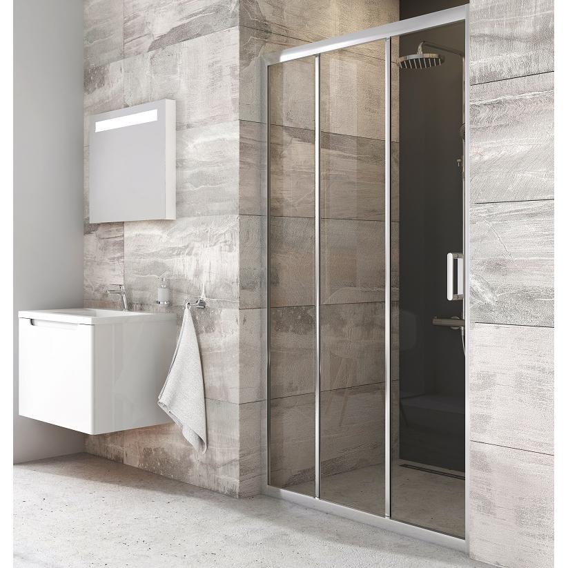 Душевая дверь Ravak BLDP3-90 блестящий+транспарент дверь