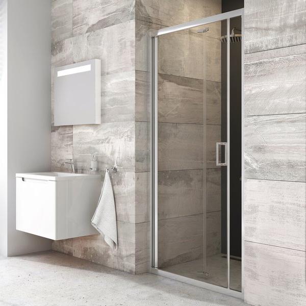 Душевая дверь Ravak BLDZ2-80 блестящий+транспарент цена