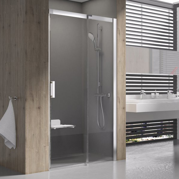 Душевая дверь Ravak MSD2-100 R блестящая+транспарент pps 100 блестящая транспарент pivot жесткая душевая стенка