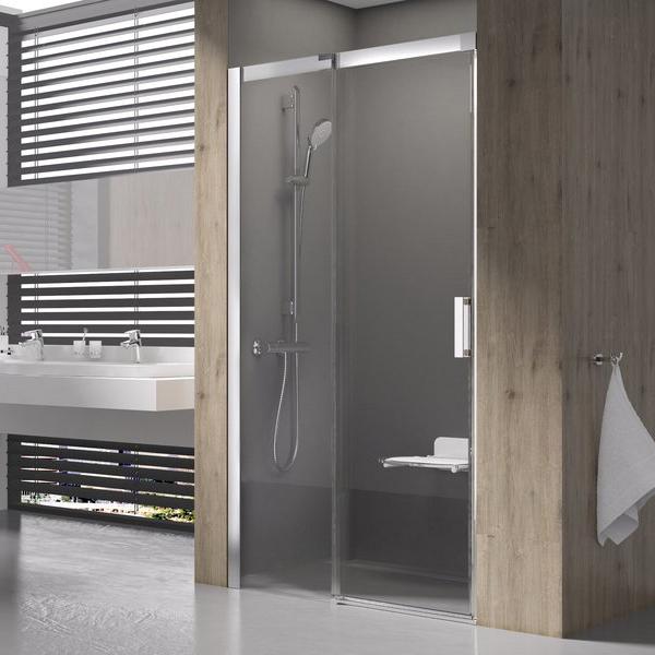 Душевая дверь Ravak MSD2-110 L белая+транспарент закрытая душевая кабина domani spa light 110 белая без электрики