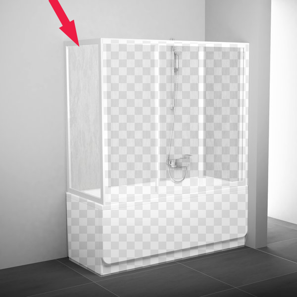 Шторка для ванны Ravak APSV 75 сатин+тpанспаpент душевой уголок ravak srv2 90 s сатин тpанспаpент