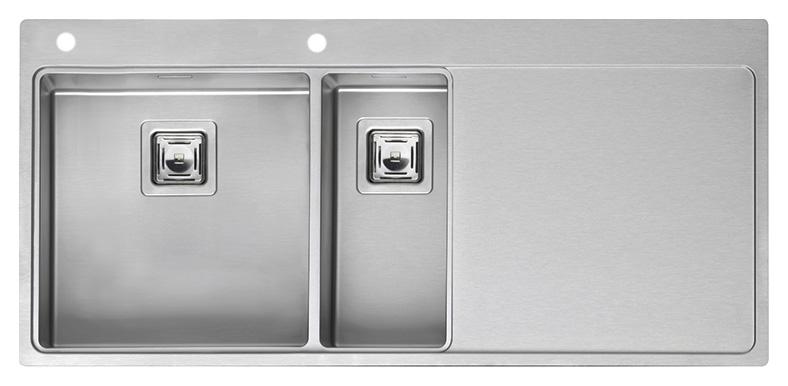 Кухонная мойка Reginox Nevada 40x18 LUX OKG left L сталь мойка кухонная reginox orlando lux okg box