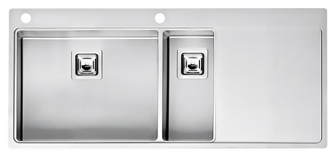 Кухонная мойка Reginox Nevada 50x18 LUX OKG left L сталь кухонная мойка reginox chicago l lux okg сталь