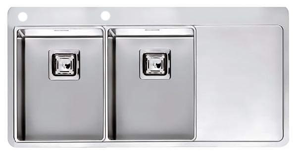 Кухонная мойка Reginox Nevada 30x30 LUX OKG left L сталь кухонная мойка reginox chicago l lux okg сталь